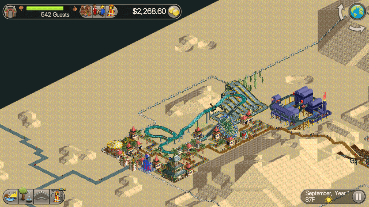 RollerCoaster Tycoon Classic - jedna z nejznámějších map z původní hry