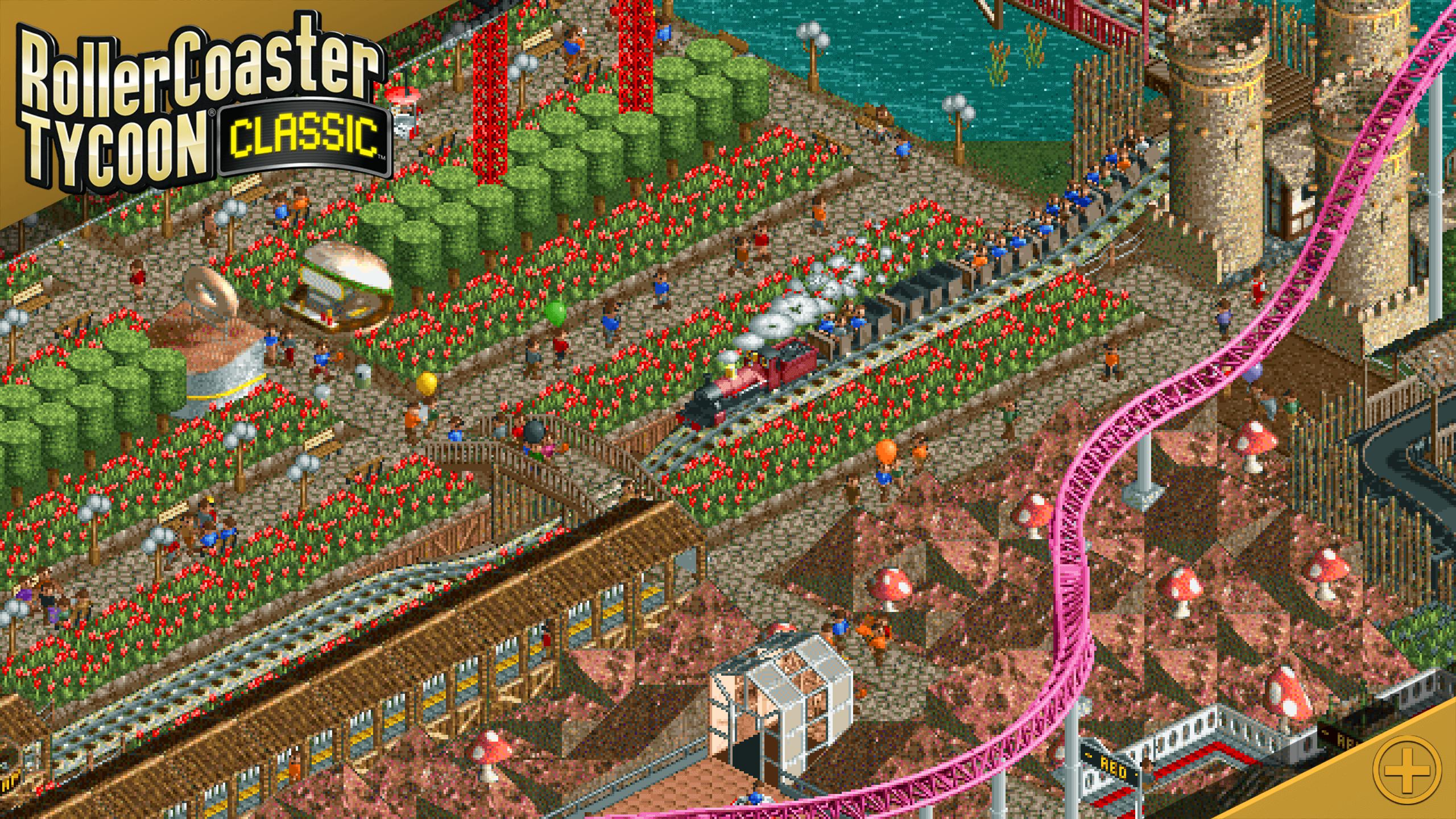 RollerCoaster Tycoon Classic je mobilní port výborné budovatelské strategie