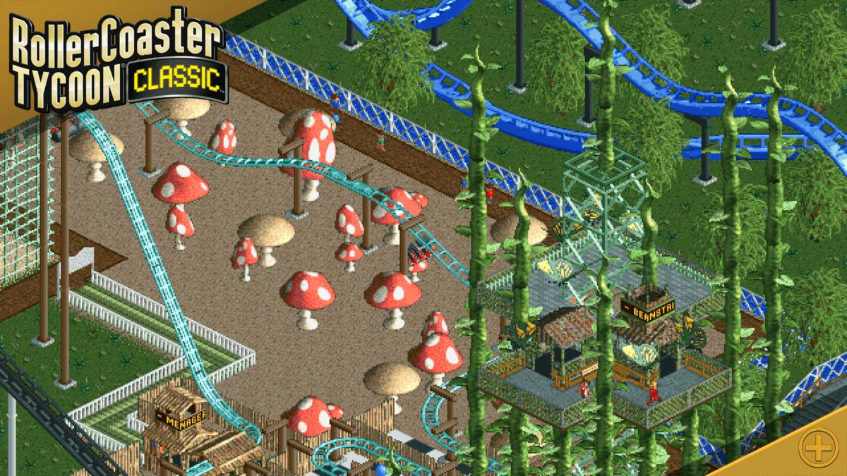 RollerCoaster Tycoon Classic - vyhlídková jízda kolem parku