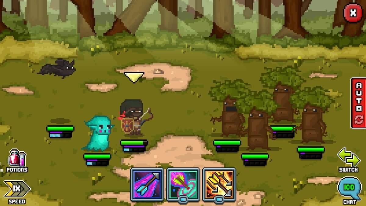 Bit Heroes - porazit stromy je váš první obtížnější úkol