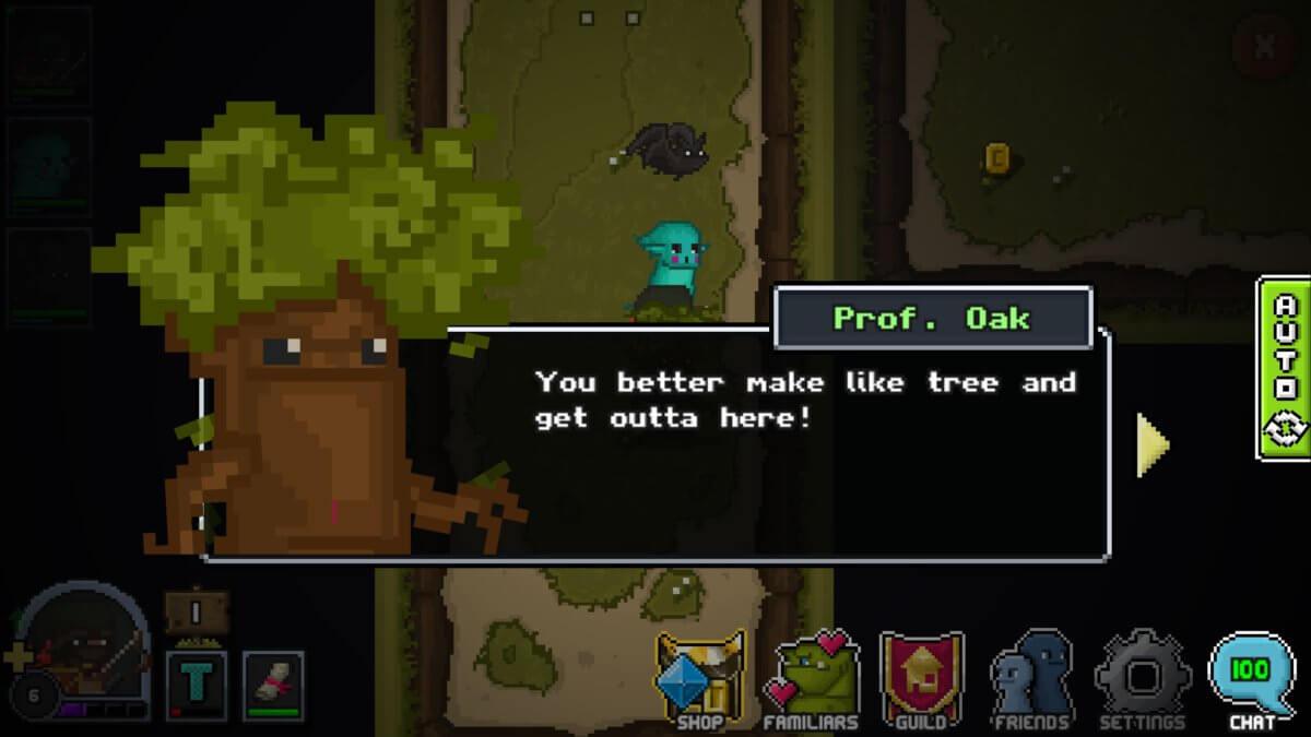 Bit Heroes - rozprávějte s celým lesem