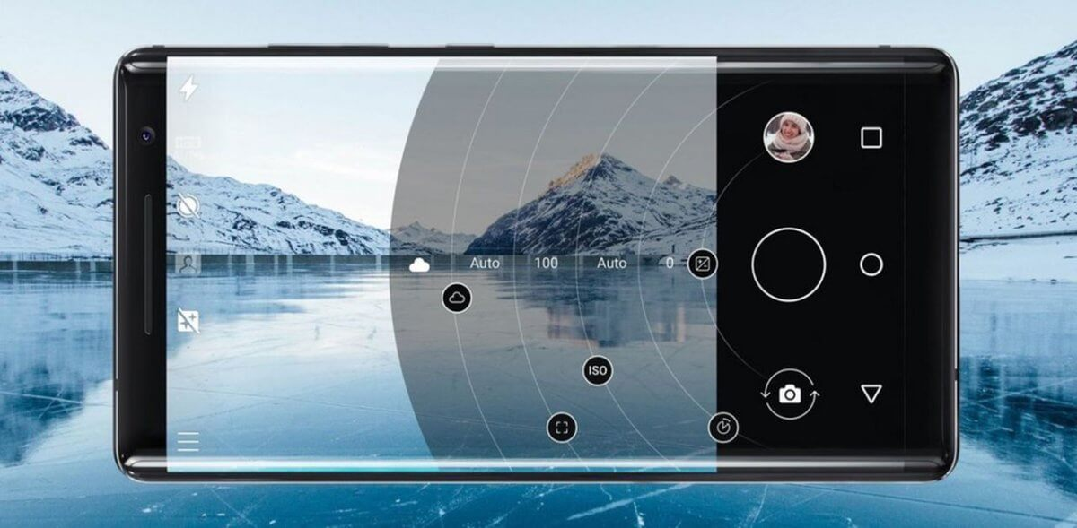 Nokia 8 Sirocco displej