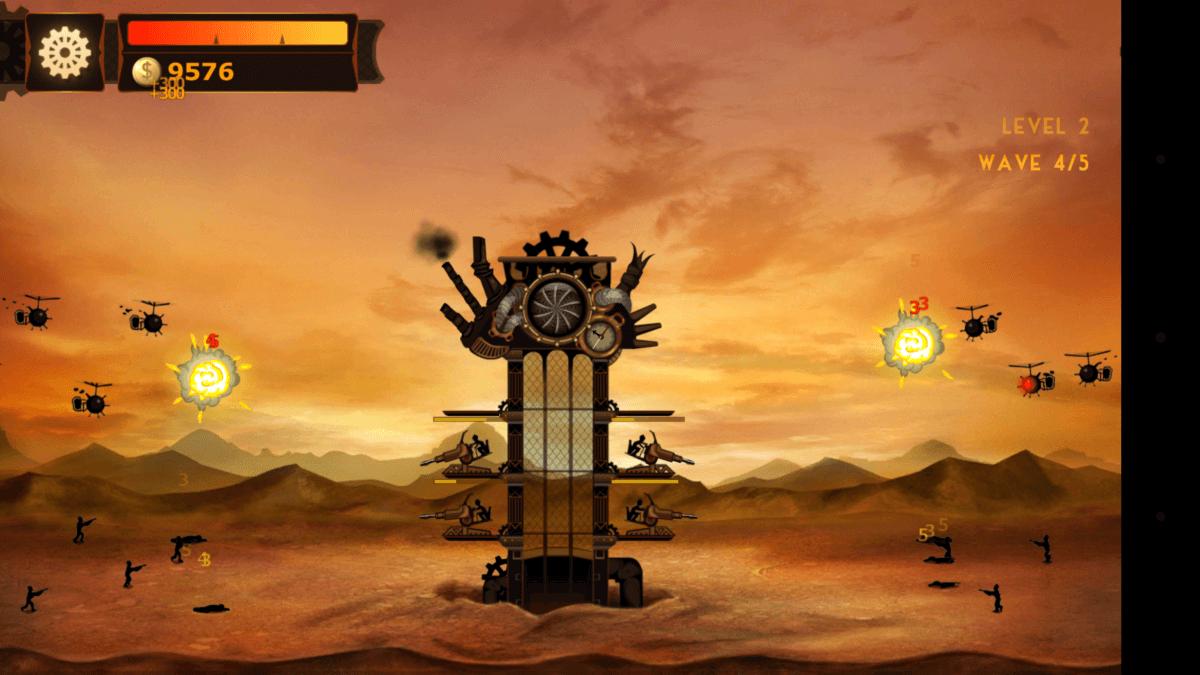 Steampunk Tower - pohled jde přiblížit i oddálit