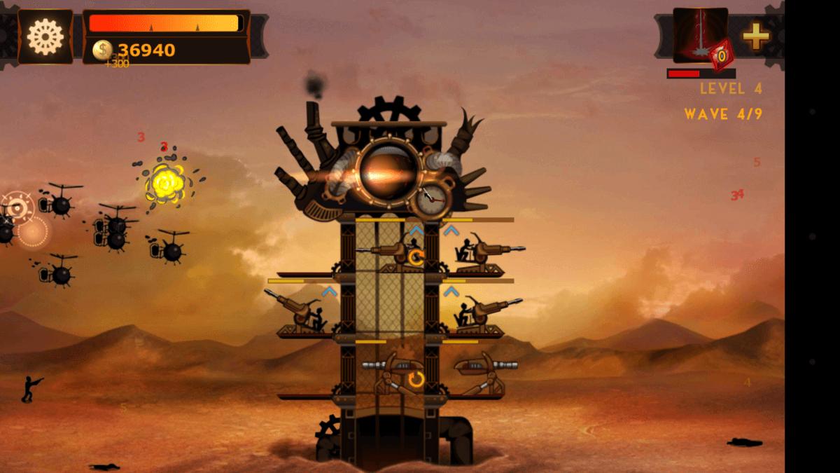 Steampunk Tower vychází z jednoduché grafiky