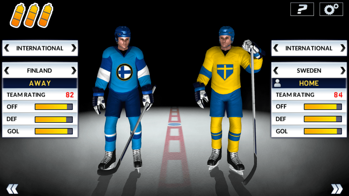 Hockey Nations 18 - výběr týmů