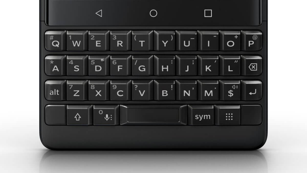 BlackBerry KEY2 keyboard