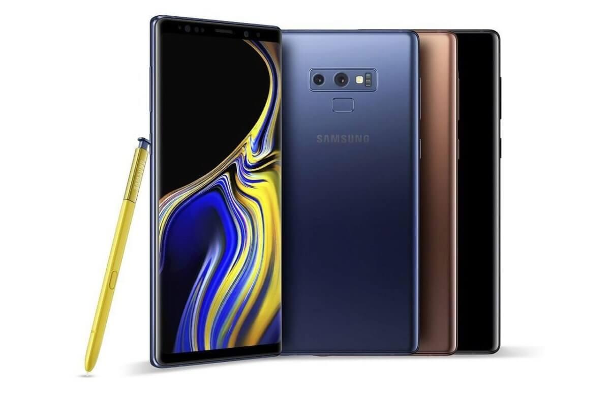Samsung Galaxy Note 9 barvy