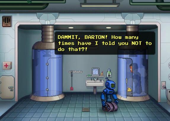 Odysseus Kosmos - geekovské adventuře nemůže chybět robot