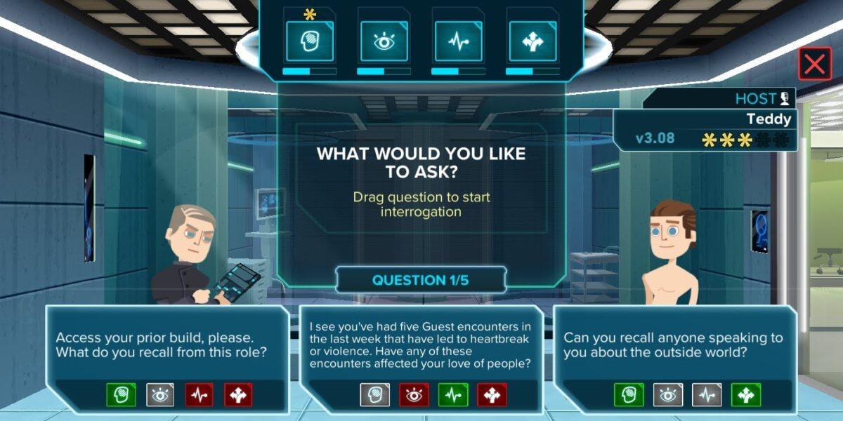 Westworld - dobré odpovědi mohou vaše postavy výrazně vylepšit