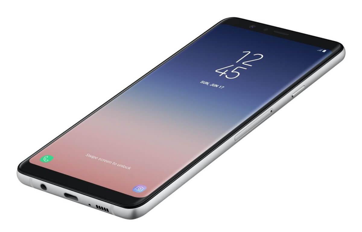 Samsung Galaxy A9 (2018) z boku